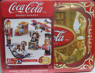 Coca-Cola Vintage Toys Puzz3D collectibles series cocacola tincan collection of antique toys made by 3d-puzzle-coca cola-vintage-toys