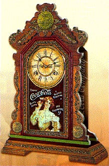 coca-cola clock 3d puzzle, real working puzzle clock, 3dimensional wrebbit puzzles, 250 pieces, quar cocacolaclock