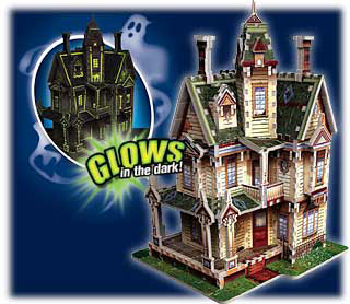 3-dimensional puzzles by wrebbit, disney victorian haunted house, 3d jisaw puzzles, mint condition p hauntedvictorianhouse