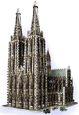 wrebbit three dimensional puzzles, cologne cathedral jigsaw puzzle, 704 pieces, puzz3d of cathedral, colognecathedral