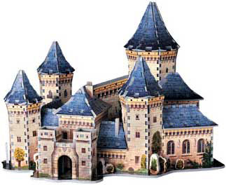 3 dimensional jigsaw puzzle by wrebbit of a medieval castle, rare puzzle medievalcastle