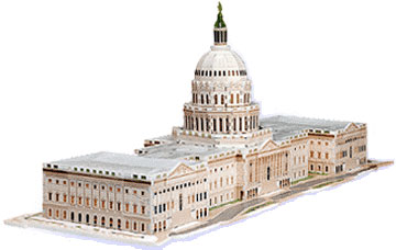 us capitol uscapitol building 3d puzzle by wrebbit, 3 diemensional puzzles of us buildings, kigsaw p uscapitol