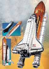 3dpuzzle space shuttle atlantis, 1000 pieces rare puzzle, america's first space shuttle, spaceshuttleatlantis