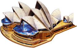 sydney opera house 3d jigsaw puzzle by wrebbit, sydney opra house puzle, 1017 pieces, very difficult sydneyoperahouse
