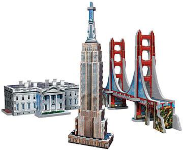 wrebbit jigsaw puzzle usa landmarks tri pack puzzel item 04558. Black Bedroom Furniture Sets. Home Design Ideas