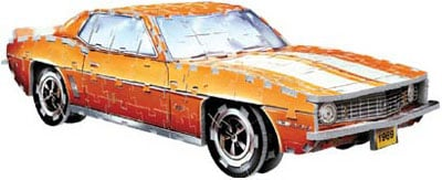 3d puzzle camaro ss 1969 , jigsaw puzzle by wrebbitt, classic cars 3 diemnsional puzzles, 300 pieces 1969camaross