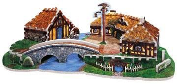 hobbiton, lord of the rings jigsaw puzzles, shire of the hobbits puzzle hobbiton