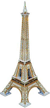 3d puzzle, eiffel towe, 350 pieces, eiffeltower 3d small easy puzzle eiffeltower300
