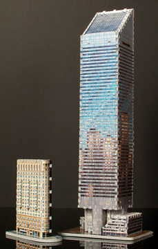 citigroup center new york usa, 3d puzzle by wrebbit, 3dimensional glow in the dakr puzzles, skyscrap citigroupcenterglowinthedark