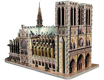 notre dame cathedral, 366 pieces, jigsaw puzzle in three dimensions by wrebbit puzz3d notredamecathedral
