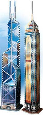 puzz3d bank of china, wrebbit three-dimensional puzzles, central plaza jigsaw puzzle, 3d puzz, wrebi bankofchinaglowinthedark