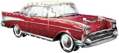 3d vehicle puzzle, chevy bel air 1957 jigsaw puzzle by wrebitt, classic cars puzzles, 300 pieces, ex chevybelair1957