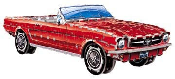ford mustand convertible jigsaw puzzle, mustang '65 3d wrebbit puzzle, 364 pieces average puzzle fordmustangconvertible1965