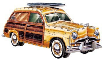 ford woody station wagon 3d jigsaw puzzle, wrebbit puzz3d 350 pieces, average difficulty fordwoodystationwagon