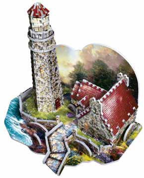 3dpuzzles from wrebbit, light of peace by thomas kinkade painter of light, inspired by award winning lightofpeace