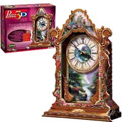 painter of light thomaskinkade 3d puzzle real working clock thomaskinkadeclock