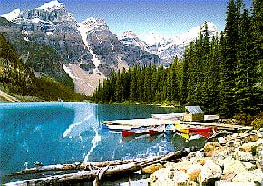 lake moraine perfalock jigsaw puzzle, 1000 pieces wrebbit series puzzles, banff national park lakemoraine