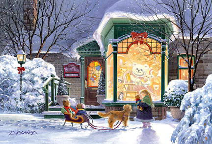 Bear's Den, a jigsaw puzzle by Wrebbit, perfalock collection, 1000 pieces, winter scene bearsden