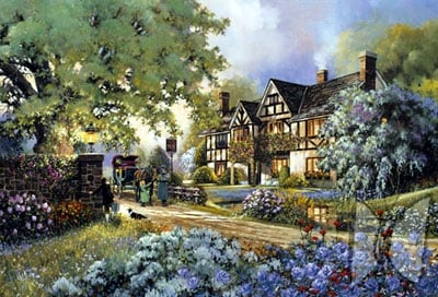 jigsaw puzzle, perfalock wrebbit, the inn painting, inn