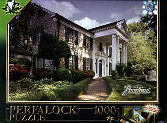 graceland, home of elvis presley, jigsaw puzzle 1000 pieces, perfalock wrebbit puzz elvispresleysgraceland