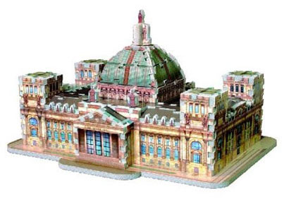 reichstag berlin building 3d puzzle by wrebbit germany puzz3d jigsaw puzzle rare reichstag-berlin-3d