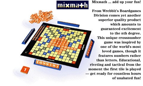 board game by wrebbit, mixmath educational hame, mixmatheducationalboardgame