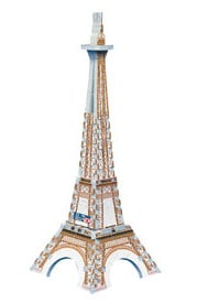 mini 3d puzzle of eiffel tower, rare jigsaw puzz, wrebbit mini puzzle eiffeltowermini