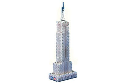 empire state building mini puzzle, wrebbit 3d mini puzz, empirestatebuildingmini