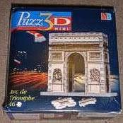 arc de triomphe jigsaw puzzle, 3d mini, puzz3d, wrebbit, rare puzzle 56 pieces arcdetriomphe