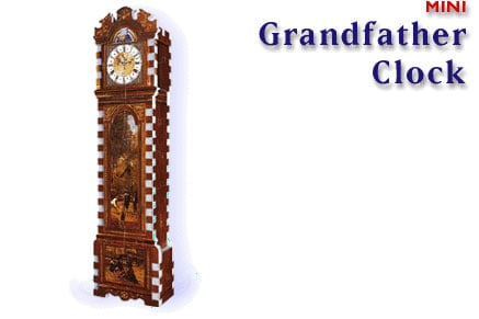 3d mini puzzle of a grandfather clock, 77 pieces, clock puzzles, grandfatherclock