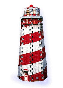 mini puzzle lighthouse puzz3d, wrebbit, 77 pieces jigsaw puzzle lighthouseminipuzz3d