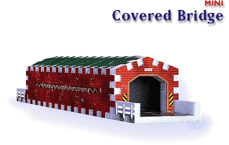 covered bridge, mini 3dpuzz, 66 pieces, jigsaw puzzles coveredbridge