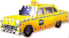 mini puzzle of a taxi, vehicle 3d puzzles, wrebbit mini puzz, 3dpuzz, puzz3d, rare taxi taxi