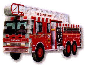 a mini 3d jigsaw puzzle, fire truck, firemen, fire department puzzle, wrebbit firetruck