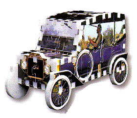 a jigsaw puzzle of the classic ford model-t, first automobile 3d jigsaw puzzle, wrebbit 3d puzz fordmodelt