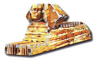 sphinx 3d puzzle, rare mini puzzles, wrebbit puzz3d sphinx sphinx