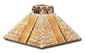 mini 3d puzzle, mayan temple, rare mini puzz3d puzzle, wrebbit mayantemple