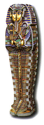 egyptian tomb jigsaw puzzle, sarcophagus, puzz3d mini, 61 pieces egyptiantomb