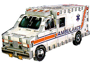jigsaw puzzle, mini puzz3d ambulance, wrebbit jigsaw puzzle vehicles, rare puzzles ambulance