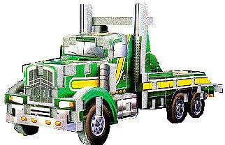 tow truck jigsaw puzzle, 3d mini puzz3d, 82 pieces, 3dpuzzles, wrebbit, rare puzz mini towtruck