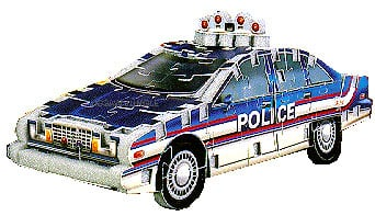 mini police car 3d puzzle wrebbit puzz3d policecar model jigsawpuzzel 86 pieces MINI-132 3d-puzzle-police-car