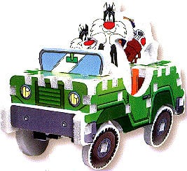 looney tunes characters jigsaw puzzle, 3d puzzle of sylvester, rare puzzle looney tunes sylvester