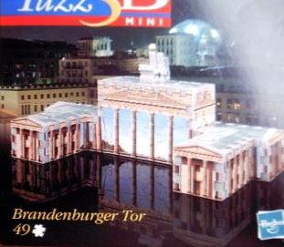3d mini puzzle, brandenburger tor, brandenburg gate, wrebbit puzz3d brandenburggate
