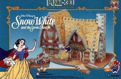 snow white's house 3d jigsaw puzzle by wrebbit, disneyland dwards puzz3d rare snowwhiteshouse