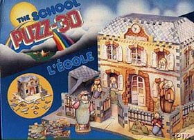 the school puzz-3d, ecole, easy jigsaw puzzle, back home series, wrebbit puzz theschool