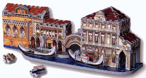 street in venice, 3d puzzle by wrebbit, 191 pieces jigsaw puzzle streetinvenice