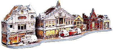 main street stockbridge at xmas, puzz3d wrebbit jigsaw puzzles, rare puzzle, norman rockwell mainstreetstockbridgeatxmas