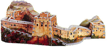 rare puzzle great wall of china, greatwall china, wrebbit puzz3d, 191 pieces, easy puzzles greatwallofchina