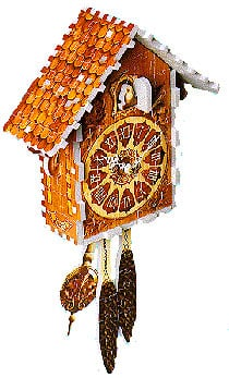 puzz3d of a cuckoo clock, makes sound, clock wrebbit puzz 3d cuckooclock