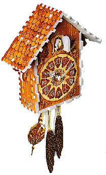 puzz3d of a cuckoo clock, makes sound, clock wrebbit puzz 3d cuckooclock